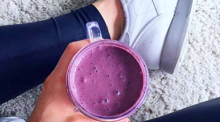 Protein smoothie fitness food