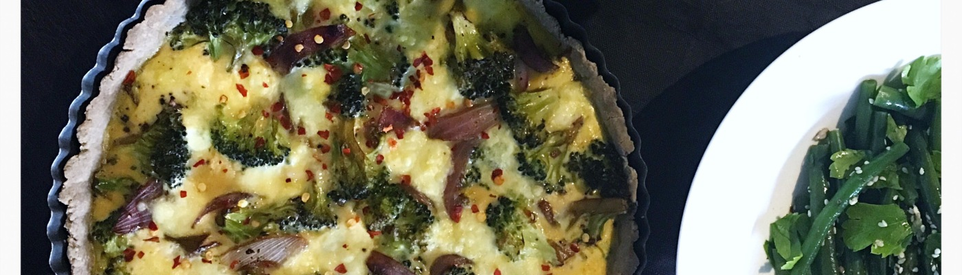 Broccoli & Caramelised Onion Tart GF