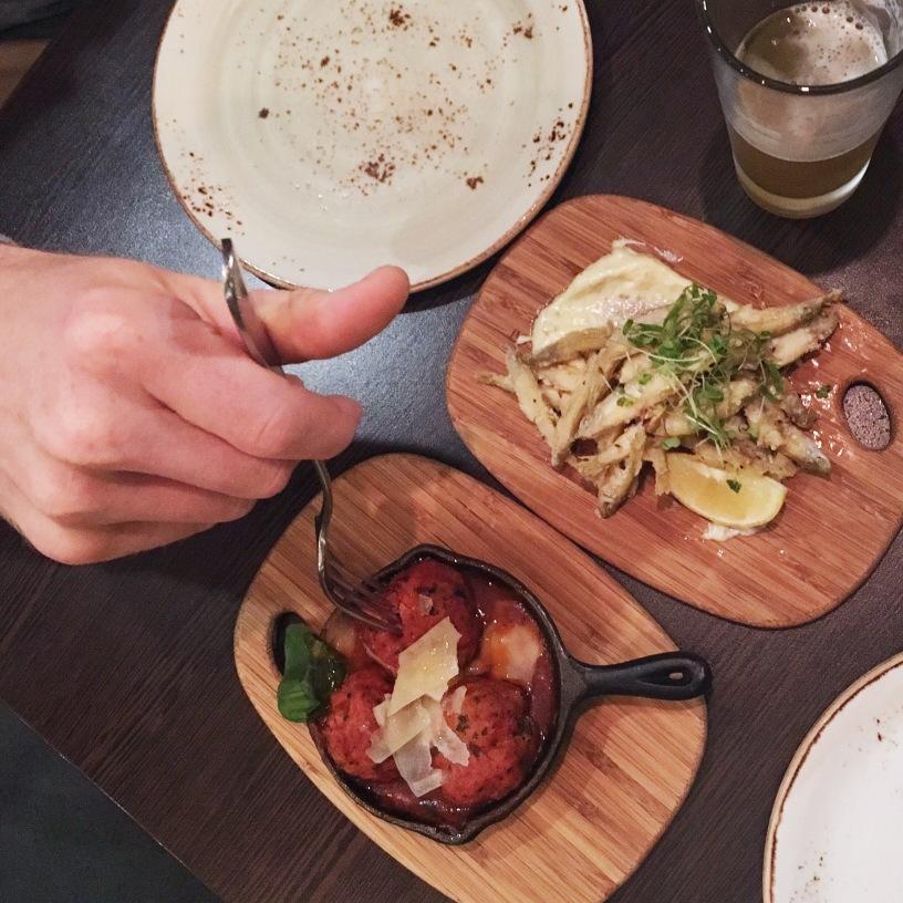 Capital Italian restaurant - Whitebait & Arancini